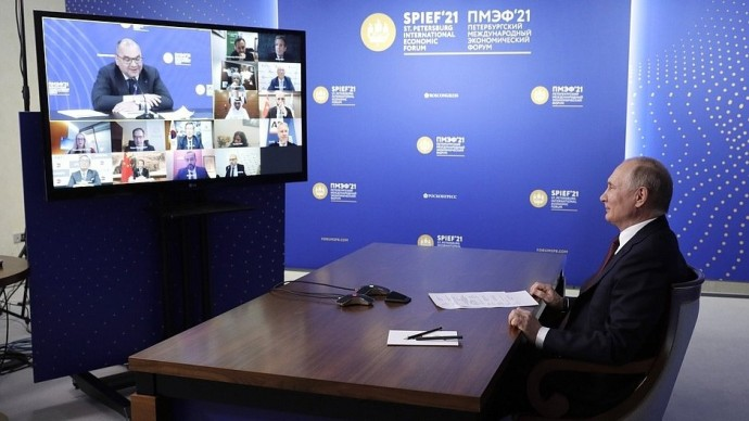 Видео встречи Путина сруководителями международных информагентств 4 июня 2021 года