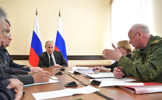 Путин провел совещание оликвидации последствий пожара вКемерове