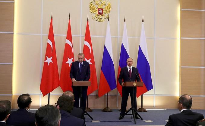 Видео: заявления для прессы Путина и Эрдогана