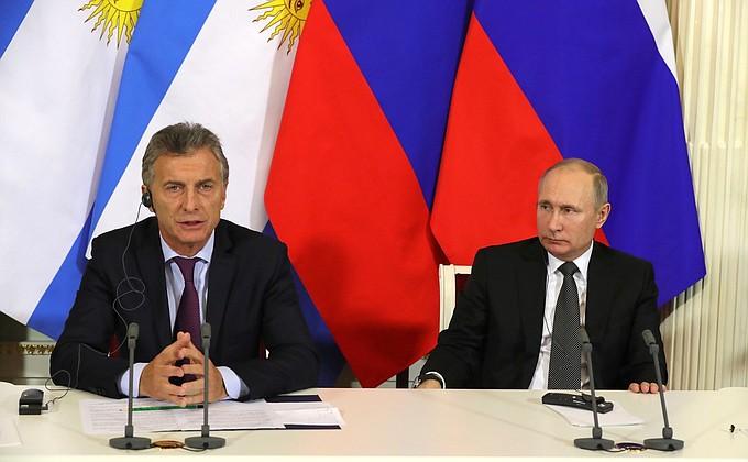 Итоги переговоров Президента России сПрезидентом Аргентинской Республики Маурисио Макри