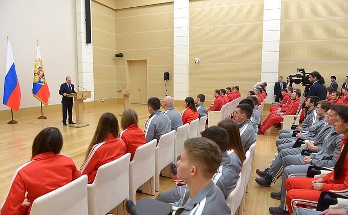 Встреча Президента России сроссийскими спортсменами