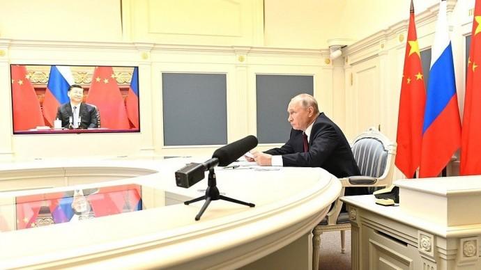 Видео беседы Путина сПредседателем КНР Си Цзиньпином 28 июня 2021 года