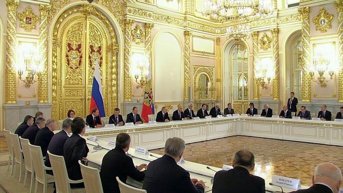 Видео встречи Путина спредставителями российского бизнеса 25 декабря 2019 года