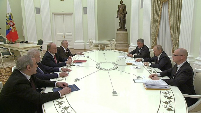 Видео встречи Путина сруководителями фракций Думы 6 марта 2020 года