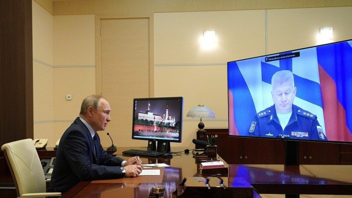 Видео: доклад главкома ВМФ Николая Евменова Президенту РФ 26 марта 2021 года