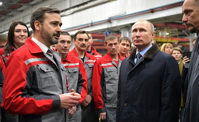 Владимир Путин посетил завод «Ростсельмаш»
