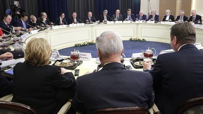 Видео встречи Путина спредставителями деловых кругов Германии 6 декабря 2019 года