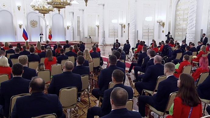 Видео со встречи Путина спобедителями ипризёрами ХVI Паралимпийских летних игр вТокио 13 сентября 2021 года