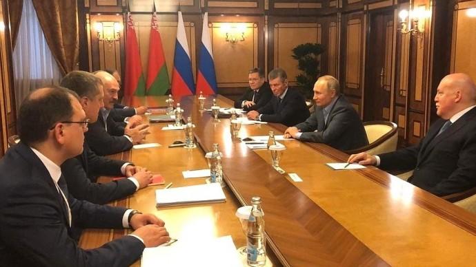 Видео переговоров Путина и Лукашенко 7 февраля 2020 года