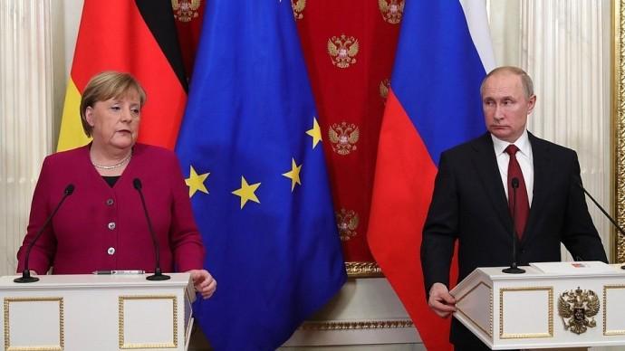 Видео пресс-конференции Путина и Меркель 11 января 2020 года