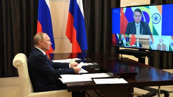 Видео выступления Владимира Путина на Саммите БРИКС 17 ноября 2020 года