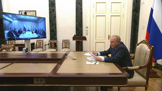 Видео со встречи Путина сглавами спецслужб стран СНГ 13 октября 2021 года