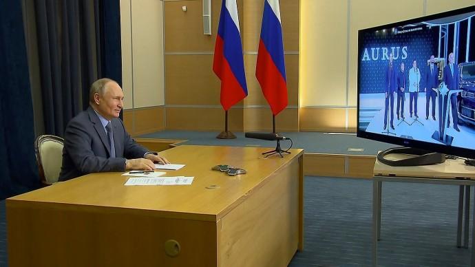 Видео: выступление Путина на открытие предприятия по выпуску автомобилей «Аурус» 31 мая 2021 года