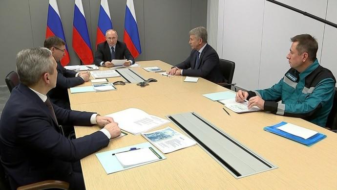 Видео с совещания Путина поразвитию нефтегазохимической отрасли 1 декабря 2020 года