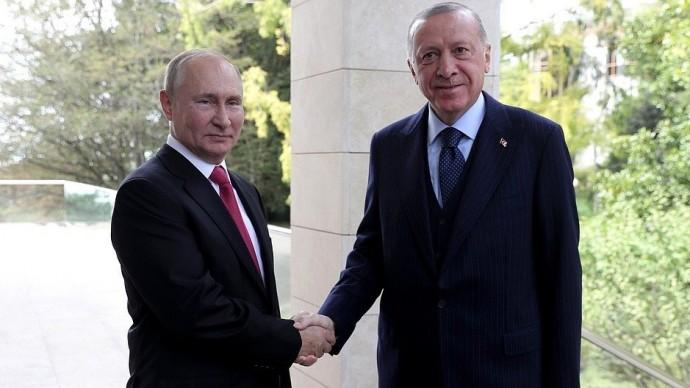 Видео со встречи Путина и Эрдогана 29 сентября 2021 года