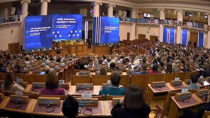 Видео: Путин на третьем Евразийском женском форуме