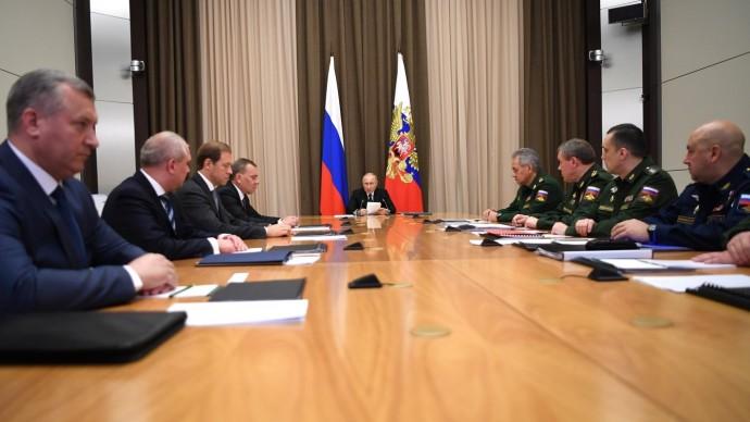 Видео совещания Путина сруководством Минобороны 11 ноября 2020 года