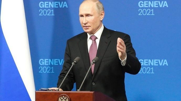 Видео пресс-конференции Путина поитогам российско-американских переговоров 16 июня 2021 года