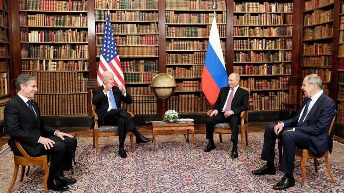 Видео российско-американских переговоров 16 июня 2021 года