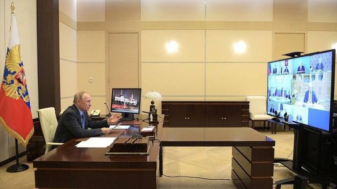 Видео совещания Путина поэкономическим вопросам 14 апреля 2020 года
