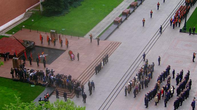 Видео возложения венка кМогиле Неизвестного Солдата Путиным 9 мая 2019 года