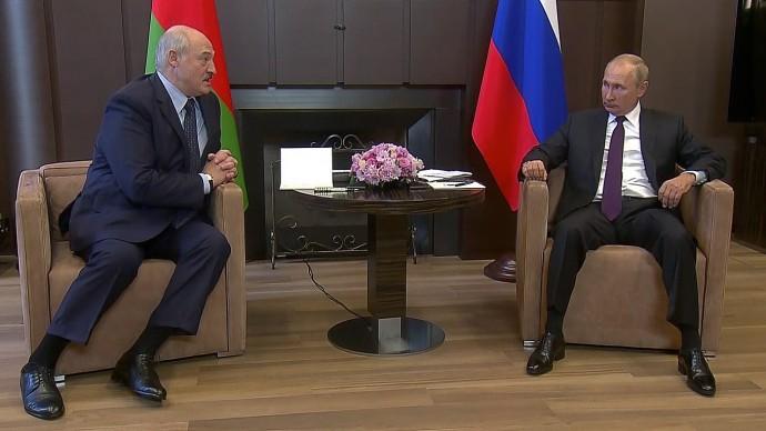 Видео со встречи Владимира Путина сАлександром Лукашенко 14 сентября 2020 года