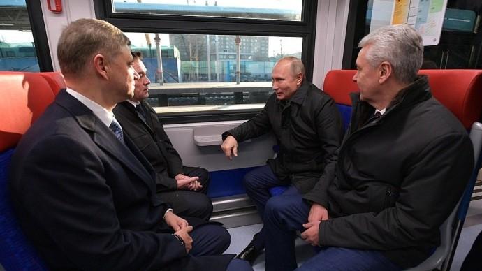 Видео открытия движения поМосковским центральным диаметрам Путиным 21 ноября 2019 года