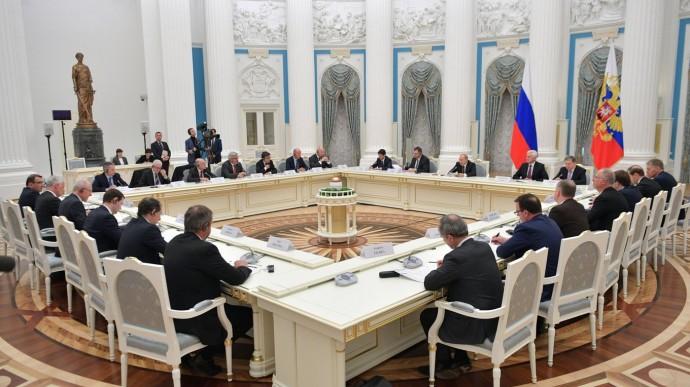 Видео встречи Путина спредставителями деловых кругов Франции 18 апреля 2019 года
