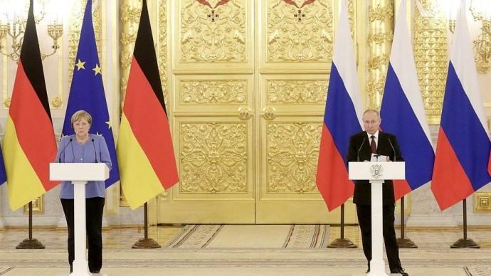 Видео пресс-конференции Владимира Путина и Ангелы Меркель 20 августа 2021 года