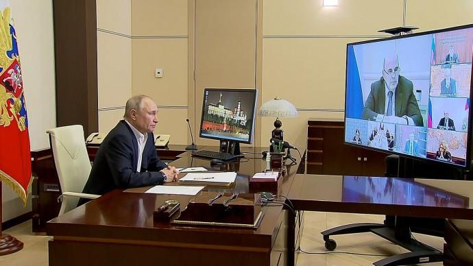 Видео: совещание Путина поподготовке Послания Федеральному Собранию 19 апреля 2021 года