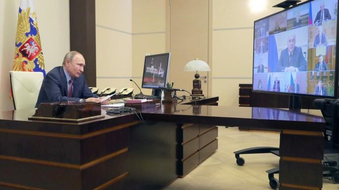 Видео с совещания Владимира Путина счленами Правительства 10 февраля 2021 года