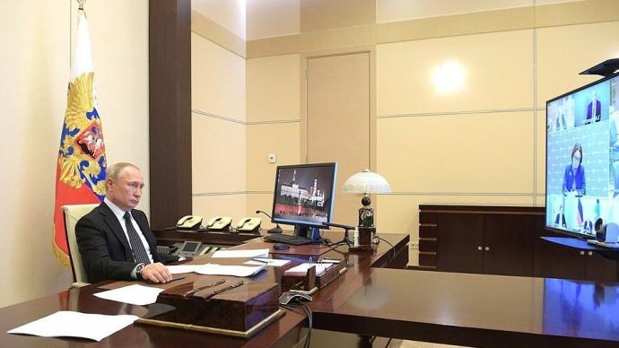 Видео совещания Путина повопросам развития строительной отрасли 16 апреля 2020 года