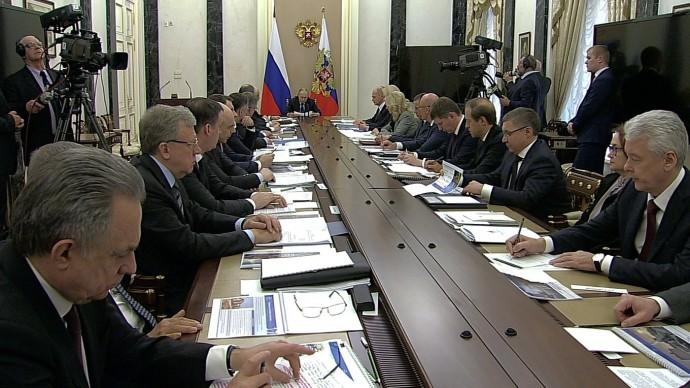 Видео Совещания Путина счленами Правительства 17 марта 2020 года