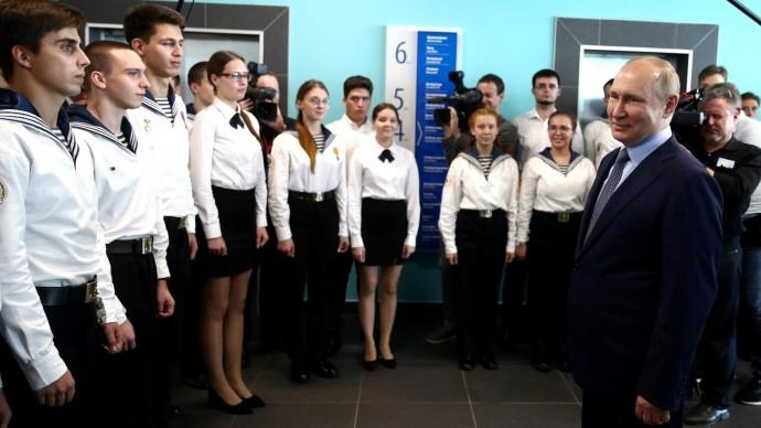 Видео: Путин в тренажёрном центре МГУ имени адмирала Г.И.Невельского 2 сентября 2021 года