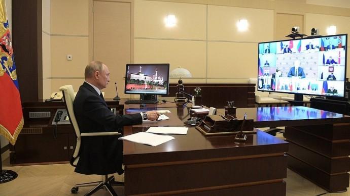 Видео совещания Владимира Путина сглавами регионов 8 апреля 2020 года