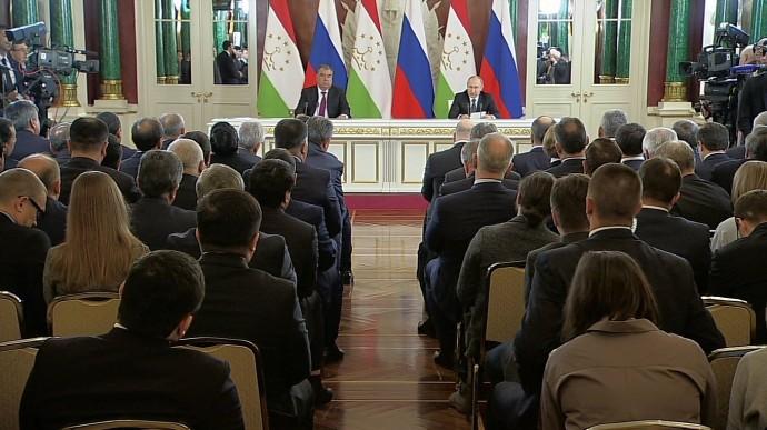 Видео: итоги российско-таджикистанских переговоров 17 апреля 2019 года