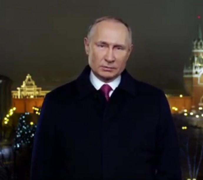Видео: поздравление Путина с новым 2020 годом и бой курантов