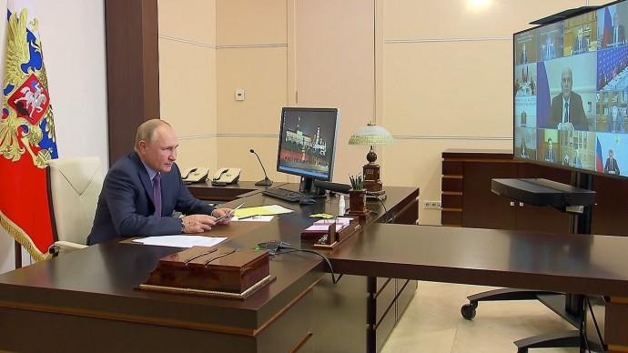 Видео совещания Путина счленами Правительства ируководством партии «Единая Россия» 14 сентября 2021 года