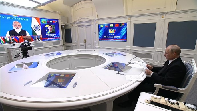Видео: Владимир Путин на саммите БРИКС 9 сентября 2021 года