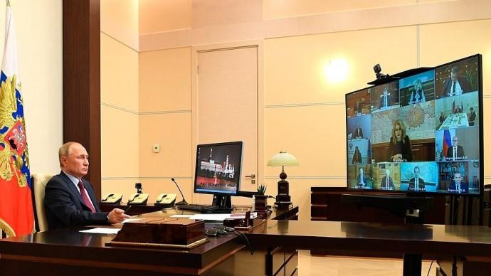 Видео совещания Владимира Путина счленами Правительства 18 ноября 2020 года