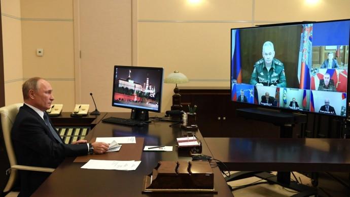 Видео совещания ороссийской миротворческой миссии вНагорном Карабахе 20 ноября 2020 года