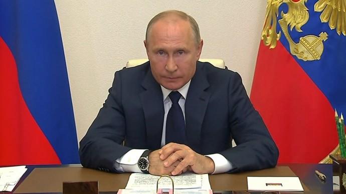Видео выступления Владимира Путина 11 мая 2020 года