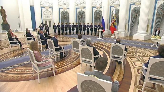 Видео вручения Путиным Государственных премий Российской Федерации 24 июня 2020 года