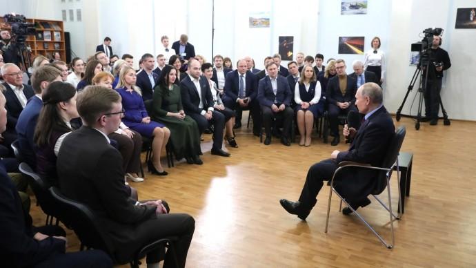 Видео посещения Путиным Череповецкого химико-технологического колледжа 4 февраля 2020 года