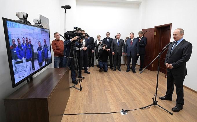 Президент России запустил в работу новый энергоблок Ростовской АЭС