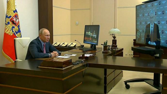 Видео встречи Владимира Путина с Сергеем Собяниным 27 мая 2020 года