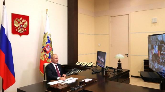 Видео открытого урока с участием Владимира Путина 1 сентября 2020 года