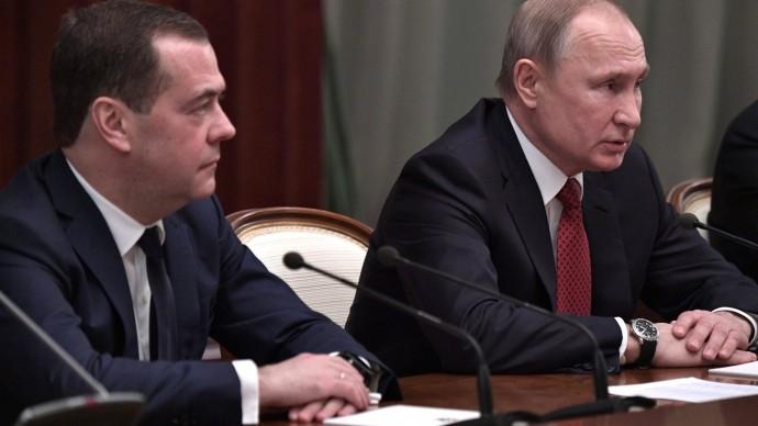 Видео встречи Путина счленами Правительства 15 января 2020 года