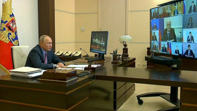 Видео совещания Путина оситуации нарынке труда 27 мая 2020 года