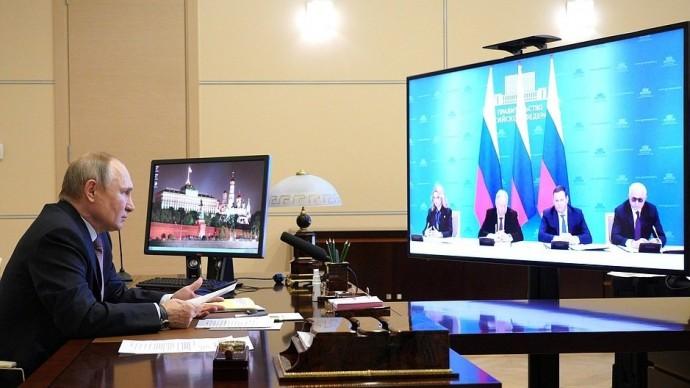 Видео: Путин на подписании соглашение между профсоюзами, работодателями иПравительством 31 марта 20